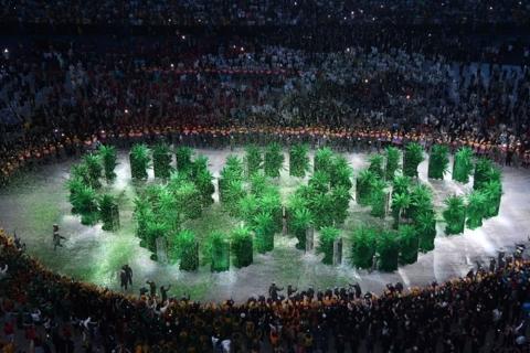 Cerchi olimpici verdi