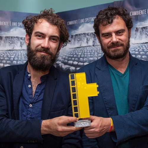 I registi Antonio Oliviero e Christian Carmosino al Festival CinemAmbiente 2016 con il Premio Ambiente e Società