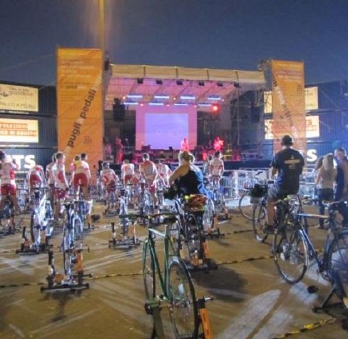 Il palco a pedali dei Tetes de Bois