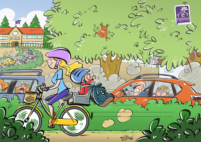 Lavoro In Ufficio Vignette : Si torna a scuola meglio ancora se in bicicletta