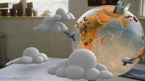 Un'immagine del video della campagna MTV contro i cambiamenti climatici di cui il pezzo è colonna sonora