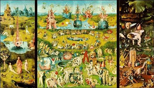"""'Il Giardino delle Delizie"""" di Hieronymous Bosch. Di Caprio racconta come gli eccessi dell'uomo abbiano condotto alla distruzione del Paradiso, il nostro pianeta."""