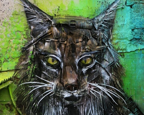 Bordalo II eco-sculture