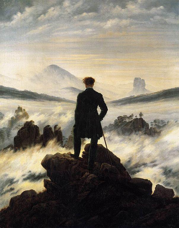 Viandante sul mare di nebbia, Caspar David Friedrich
