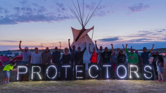 Protettori dell'acqua, Oceti Sakowin Camp. Photo credits: http://drcinfo.org/