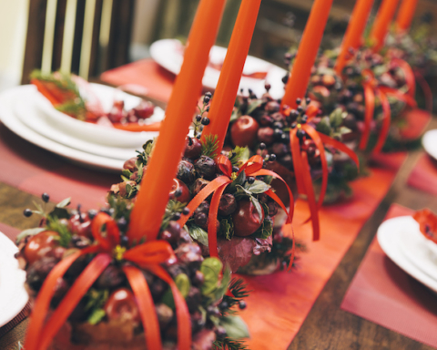 Holiday Table Close Up