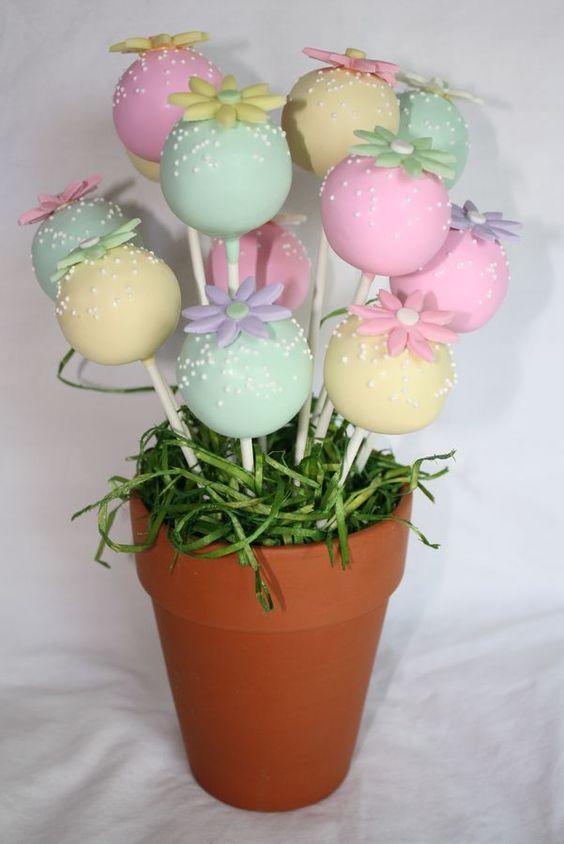 Cake pops in vaso (Fonte foto: cakecentral.com)