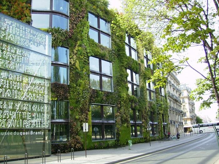 Parete vivente del Musée du Quai Branly a Parigi