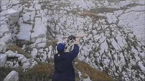 I droni all'azione sul Monte Cagno