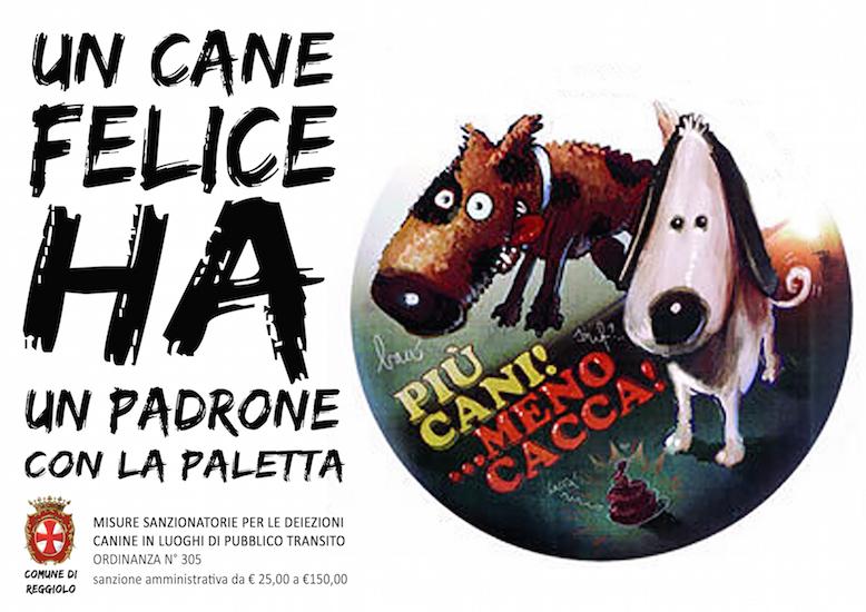 Campagna per la raccolta delle deiezioni canine del comune di Reggiolo