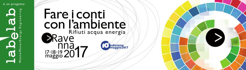il banner della manifestazione Fare i Conti con l'Ambiente edizione 2017