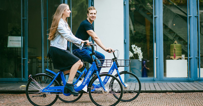 bike sharing a flusso libero- bluegogo