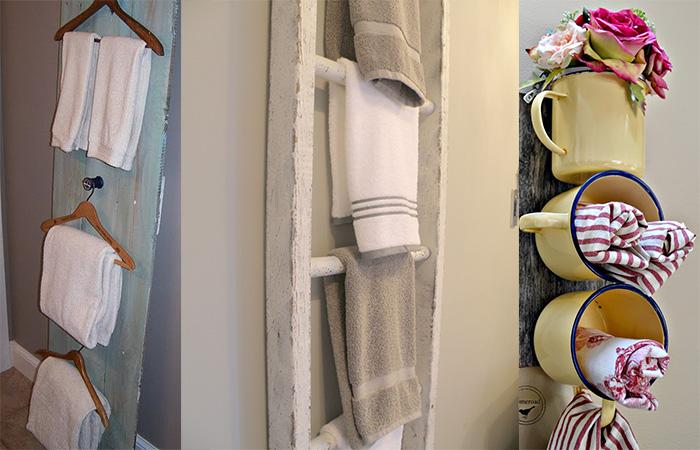 Arredo bagno sostenibile 6 suggerimenti per creare dei porta asciugamani riciclati - Porta asciugamani da bagno ...