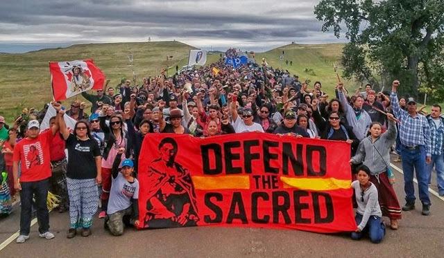 La protesta dei Sioux contro l'oleodotto Dakota -