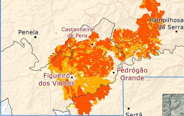 mappa incendio portogallo 2017