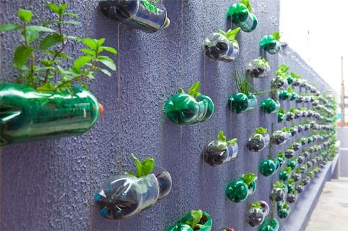 Recupero creativo delle bottiglie di plastica