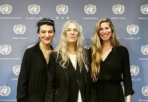 Jesse Paris Smith, Patti Smith e Rebecca Foon alle Nazioni Unite per presentare Pathway to Paris 2017