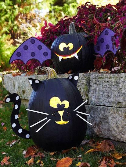 gatto nero zucca halloween