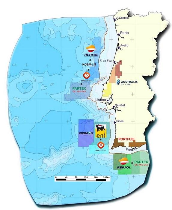 Mappa delle concessioni iniziali in mare e in terra con relative compagnie petrolifere Foto: PALP