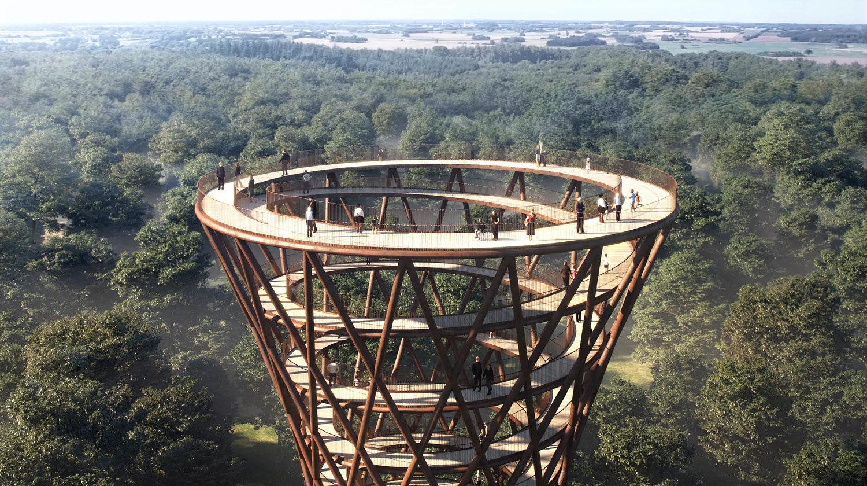 Torre a spirale nella foresta danese