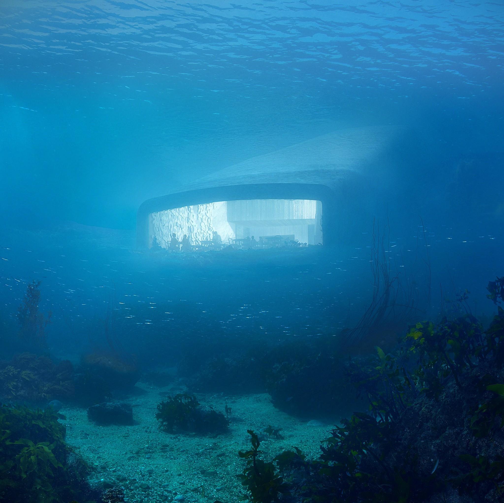 Vetrata ristorante sottomarino