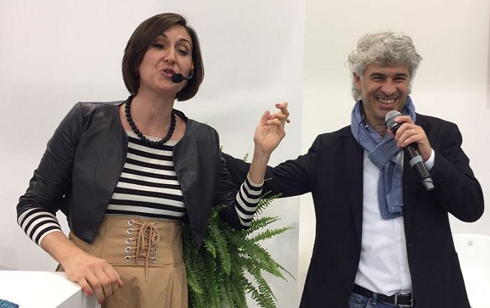 Lucia Cuffaro e Roberto Cavallo alla conferenza stampa di lancio dei dati della SERR 2017