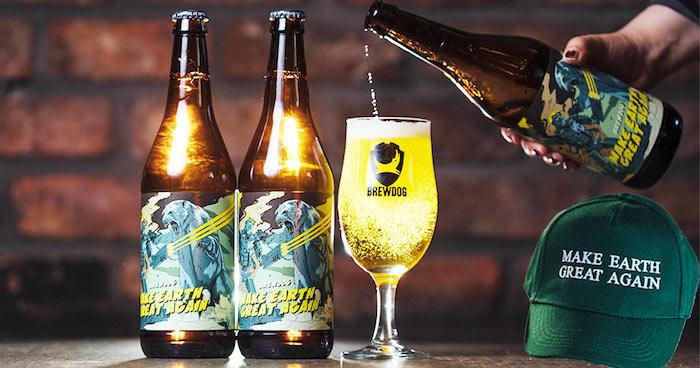 make eart great again bottiglie birra