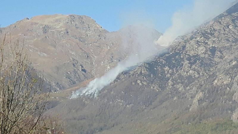 Uno degli incendi della Valchiusella