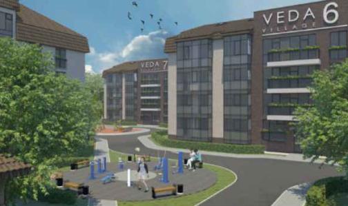 Veda Village: il complesso residenziale prevede di ospitare fino a 210 famiglie.