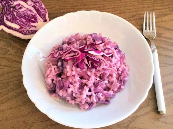 Risotto di cavolo rosso - Foto: Blog La cucina gemellare