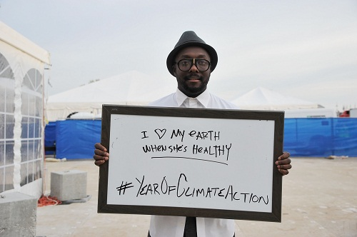 """Amo la Terra quando è in salute"", il messaggio di Will.i.am per il Global Citizen 2015 Earth Day"