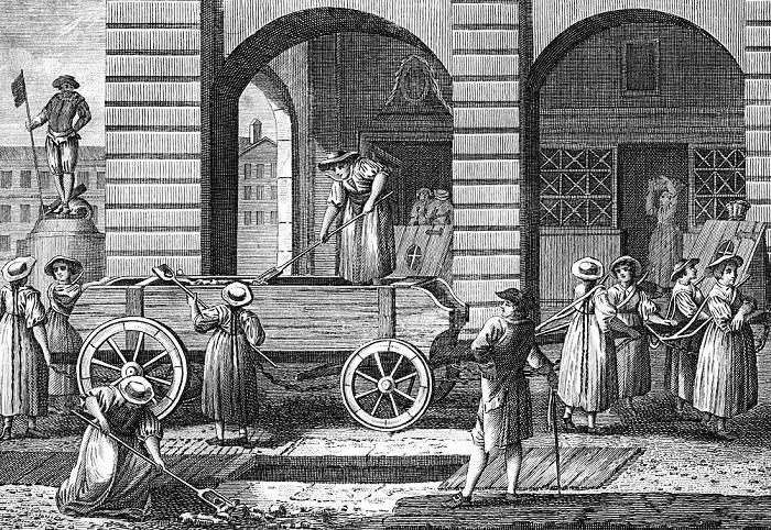 Berna, 1790: prostitute puliscono le strade della città. Foto: focus.it
