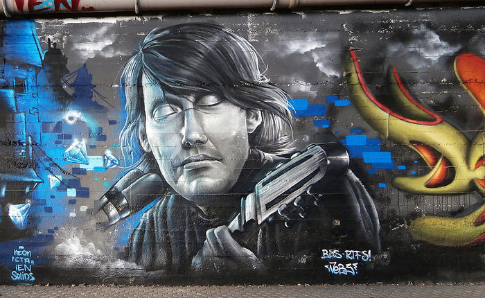 passeggiata lungomare de andre graffiti