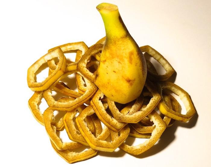 bucce di frutta e verdura banana