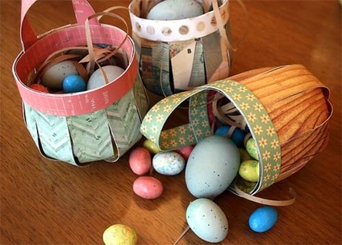 Cestini di Pasqua realizzati con materiale di recupero (fonte: pinterest)