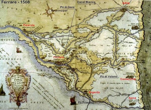 Mappa storica Delta del Po Wu Ming