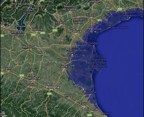 Scenari riscaldamento globale Venezia Ferrara Delta del Po Wu Ming