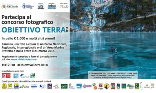 Obiettivo Terra 2018: è un concorso fotografico a tema naturalistico giunto alla sua nona edizione.