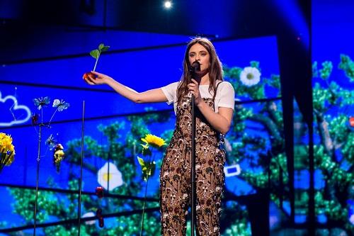 L'esibizione a tinte green di Francesca Michielin durante l'Eurovision Song Contest 2016 - Foto: Eurovision.tv (EBU)