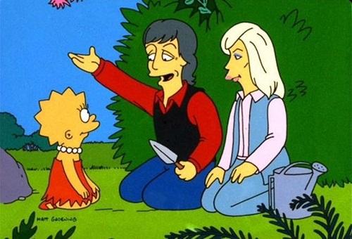 """Il cammeo di Paul e Linda McCartney nella serie tv """"I Simpson"""""""