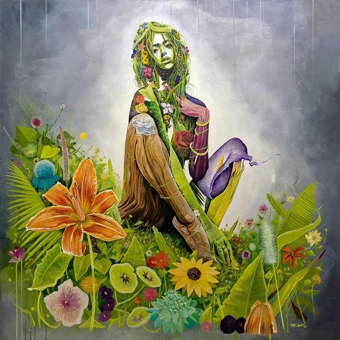 Donna e flora sono protagoniste assolute della mostra Earth