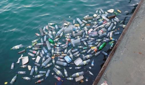 Pianeta o plastica: la produzione di bottiglie di plastica contenenti bevande è una delle fonti di questo rifiuto spesso disperso nellambiente.