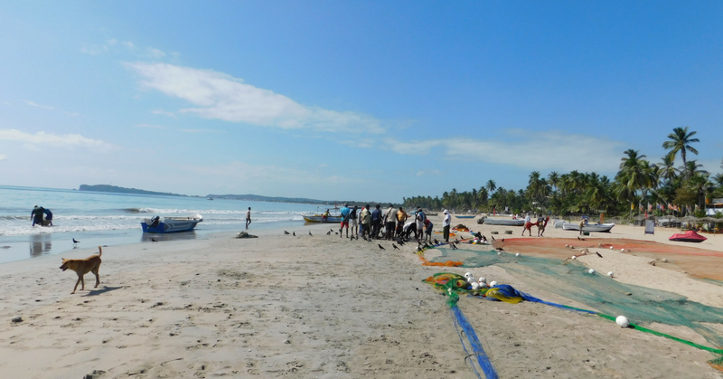 Sri Lanka: spiaggia di Trincomalee il duro lavoro dei pescatori