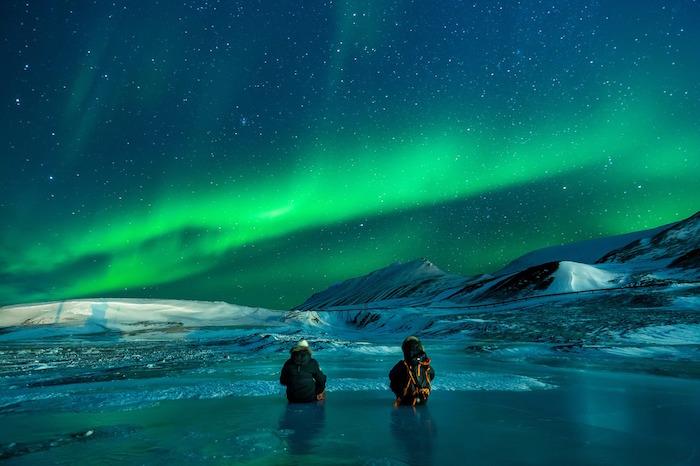 aurora boreale ghiaccio