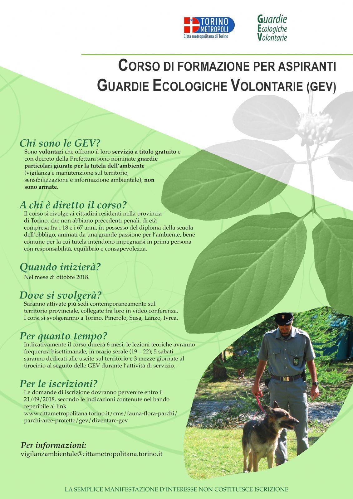 Diventare Guardie Ecologiche Volontarie