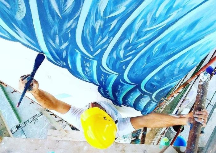 I Piu Bei Murales.Hunting Pollution A Roma Il Piu Grande Murales Ecologico D Europa