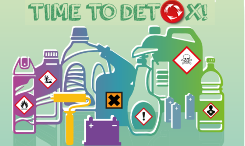 """EWRR 2018: il focus tematico di questa X edizione è la riduzione dei rifiuti pericolosi. Fonte foto: pagina FB """"European Week for Waste Reduction""""."""