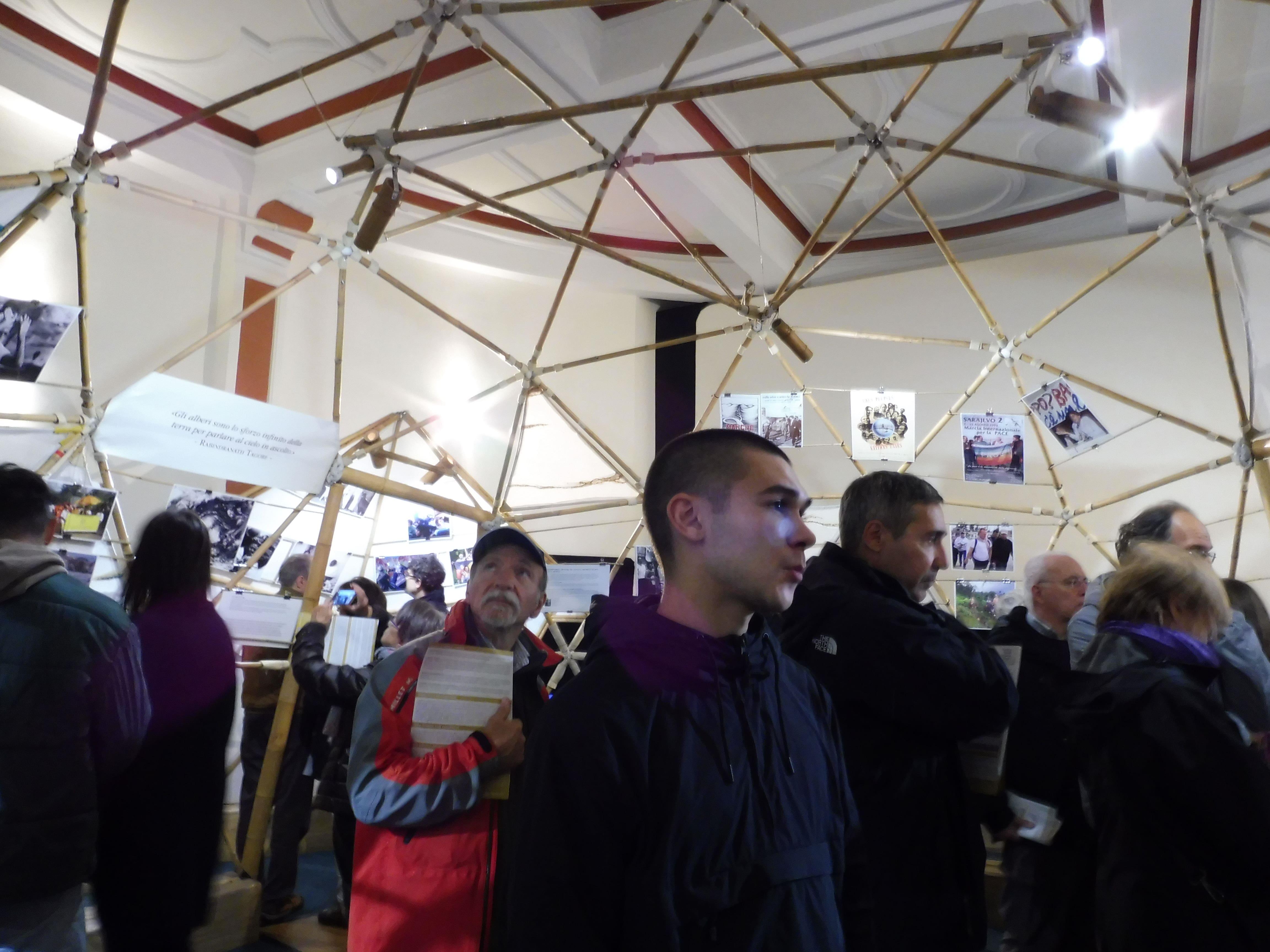 mostra 100 anni cupola interno