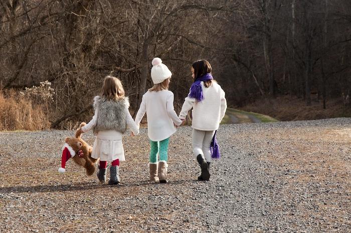 camminare al freddo bambini