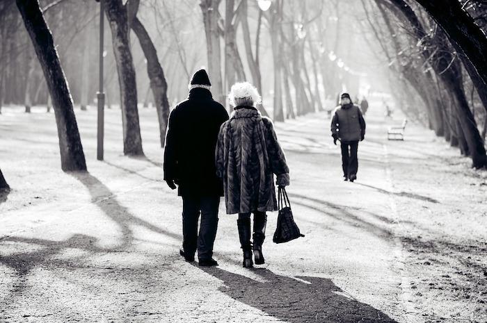 camminare col freddo viale